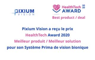 Récompense HealthTechAward 2020 pour le Système Prima