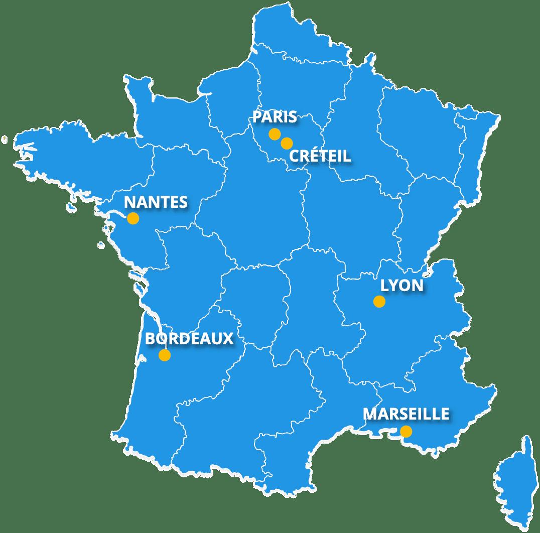 Carte étude PRIMAvera France