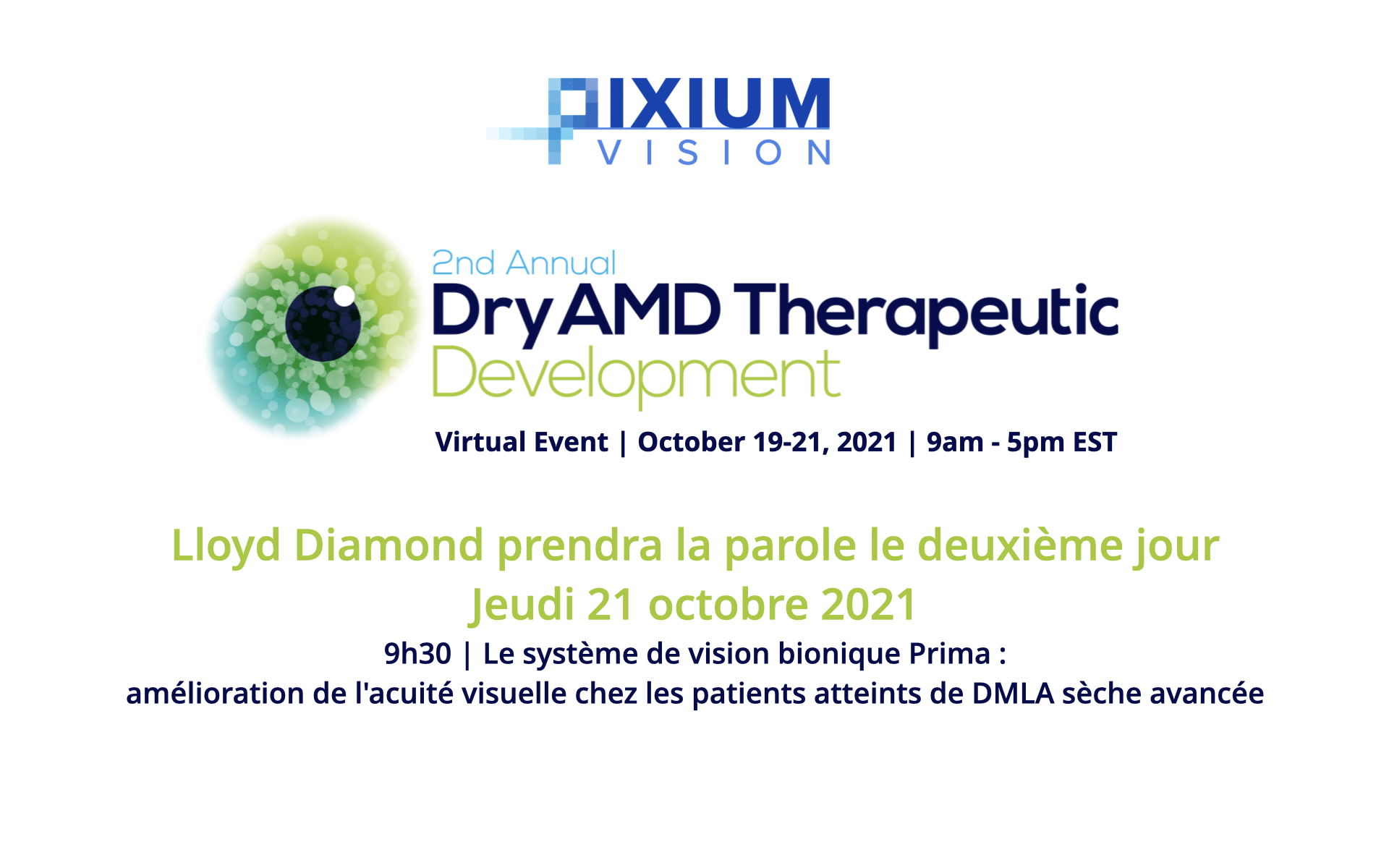 2nd Sommet Annuel DryAMD Therapeutic Development octobre 2021