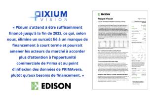 Rapport Edison – L'augmentation de capital renforce le financement
