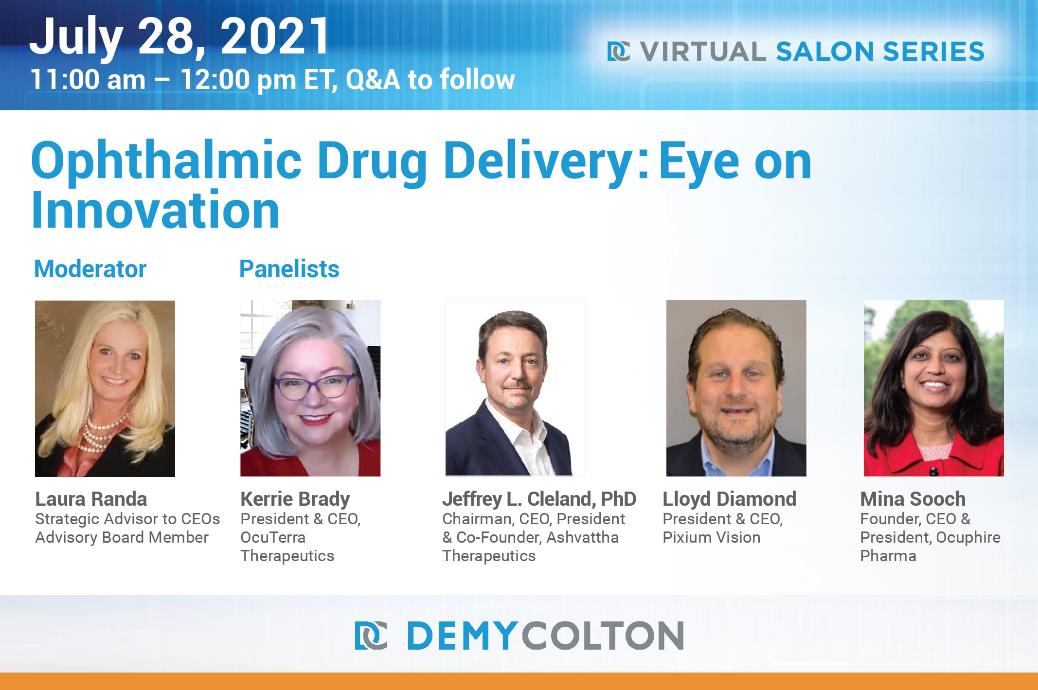 Ophthalmic Drug Delivery: Eye on Innovation July 28, 2021