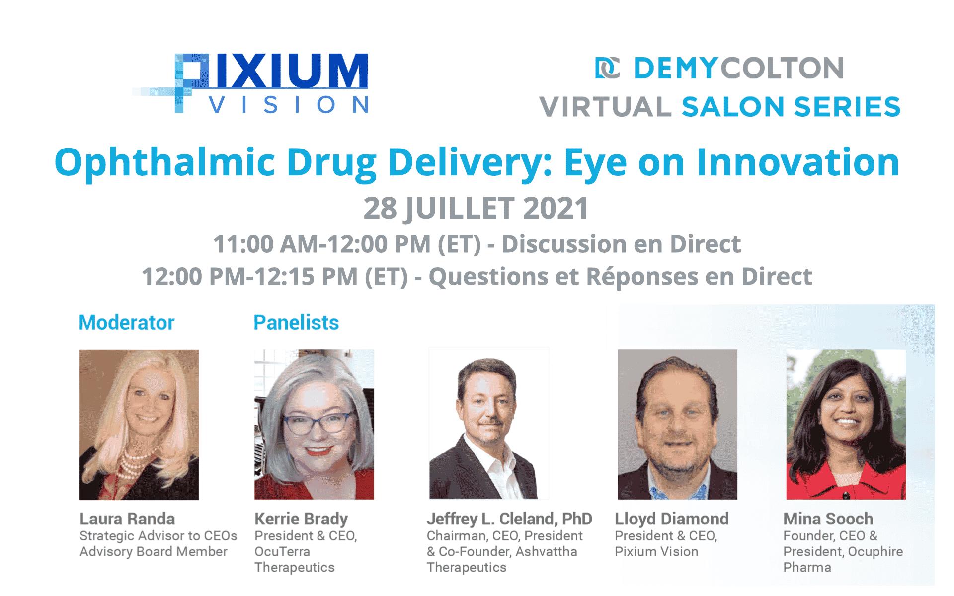 Ophthalmic Drug Delivery: Eye on Innovation 28 juillet 2021