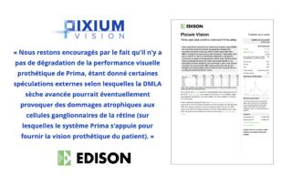 Rapport Edison du 20 octobre 2021 - Les données sur trois ans confirment la sûreté de Prima